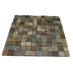 Fusion Chinkapin Marble & Glass Tiles - Fusion Chinkapin 1x1 Glass Tile This stunning combination of the multicolored slate with the frosted...
