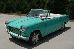 Jewel Like: 1966 Triumph Herald Convertible - http://barnfinds.com/jewel-like-1966-triumph-herald-convertible/