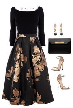 Teen Fashion Outfits, Mode Outfits, Modest Fashion, Look Fashion, Dress Outfits, Fashion Dresses, Womens Fashion, Classy Fashion, Floral Skirt Outfits