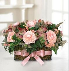 pretty floral arrangements | Pink mother's day flower arrangement.PNG