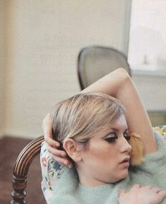 Fashion model Twiggy (the former Lesley Horby), United Kingdom, 1968,