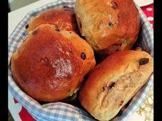 Weiche Schokoladenbrötchen/Schokobrötchen - Milchbrötchen mit Schokoladendrops - Hefeteig mit weniger Butter und weniger Zucker