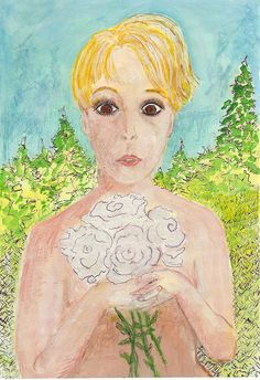 Oct 25 Card From Dad - Cover - Watercolor, Pen & Liquid Paper