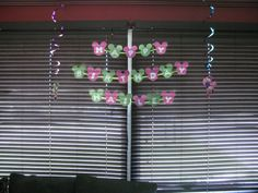 Birthday Banner made with Mickey Ears in lime green and hot pink :)
