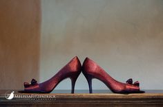 Burgandy wedding shoes