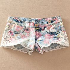 Floral Pattern Shorts #backtoschooloutfit