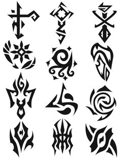 Cool symbols: symbols 1 by on deviantart. Tattoo Drawings, Body Art Tattoos, Tribal Tattoos, Art Drawings, Magic Symbols, Ancient Symbols, Glyphs Symbols, Tribal Symbols, Fantasy Kunst