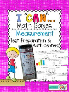 """This """"I Can"""" math game focuses on MEASUREMENT and is aligned with 5th grade Common Core! Perfect for Unit reviews, Test Prep, and Progress Monitoring! Tons of FUN! Now with QR codes!  $"""