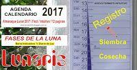 Fabrica de Almanaques, Lunaris,  Calendario Lunar, Huertas , Pesca, Lunaris 365: Calendario Agrícola y Huerta