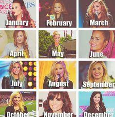 Demi Lovato's hair evolution
