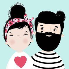 { ele diz que não! Mas eu acho essa barba hipster! Não é?! #hipster #barba…