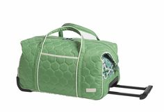 Carry-On Rolly Travel Bag, Verde Bonita - free shipping @organizingstore
