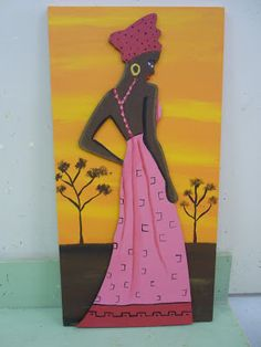 CREACIONES DE SILVIA: Africanas de ALICIA Y VANESA!!!!!!!!! African Women, African Art, African Paintings, African Theme, Palette Knife Painting, Fabric Painting, Black Art, Paper Art, Folk Art
