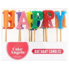 Fiddes Payne Happy Birthday Candles 13 Each - Groceries