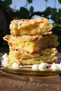 cake batter blondies. making these today!