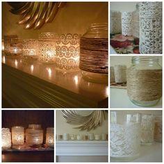 How to DIY Vintage Votives with Mason Jar - CraftSmile Mason Jar Crafts, Mason Jars, Cute Crafts, Diy Crafts, Ball Jars, How To Make Diy, Dollar Store Crafts, Tricks, Candle Jars