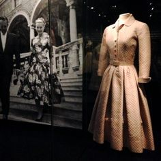 Original Grace Kelly dress - Grace Kelly Exhibition at Royal estate Paleis Het Loo. http://whatiwouldbuy.com/THE+NEW+RENAULT+TWINGO+AND+STYLE+ICON+GRACE+KELLY+PRINCESS+OF+MONACO