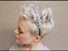 Pixie Cut Hairstyle Using Mini Flat Iron / Messy & Textured - YouTube
