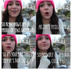 Beth, it's not cold!