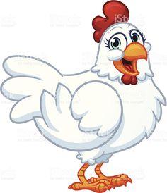 Happy hen royalty-free stock vector art