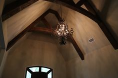 The light fixture in my foyer.  Just love it with the beams.