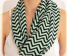 by (2BeRoxy) Cover Up Shevron Mint Scarf Zigzag Summer Accessory... by 2BeRoxy
