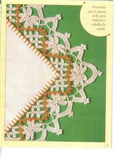 Artes by Cachopa - Croche & Trico: Bicos - Cores nobres
