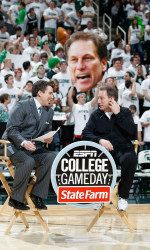 ESPN's College GameDay will visit East Lansing this season when Michigan State hosts Michigan on Jan. 25. This will be the third time MSU has hosted College GameDay, and marks the Spartans' seventh appearance overall. This year's contest will tip at 7 p.m