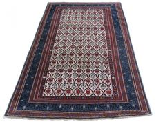 Antique Caucasian Shirvan Rug, 63x53 inches, excellent condition, late 19th century.