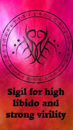 Sigil for high libido and strong virility sex sexy Requested by anonymous Magick Book, Magick Spells, Witchcraft, Magic Symbols, Ancient Symbols, Tantra, Symbole Protection, Practical Magic, Symbolic Tattoos