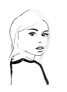 Chic minimalist fashion illustration // Helen Simms