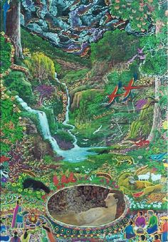 Image Search Results for pablo amaringo ayahuasca visions Acid Art, River Painting, My Fantasy World, Deer Art, Magic Realism, Visionary Art, Psychedelic Art, Pretty Art, Art Inspo