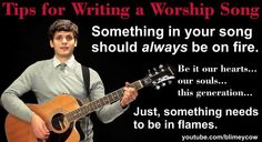 Writing a worship song. The Blimey Cow way!