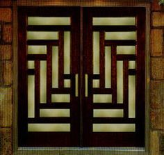 TIMBER BOARD ENTRY DOOR BRASS INLAY - Google Search