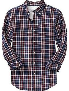 Men's Plaid Slim-Fit Oxford Shirts | Old Navy