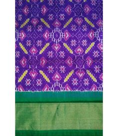 Purple Handloom  Ikkat Silk Saree
