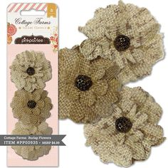 Cottage Farms Burlap Flowers
