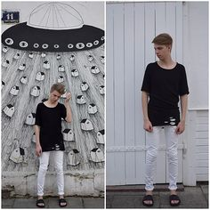 More pictures on my blog: fashionfreedom24.blogspot.com  Please like me on facebook: Piotr Czak Thank you! :)  #black #and #white #mylook #mystyle #ootd #review #topman #zara