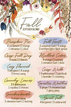 Fall Essential Oils, Essential Oil Diffuser Blends, Essential Oil Uses, Young Living Essential Oils, Design Facebook, Essential Oil Combinations, Diffuser Recipes, Aromatherapy Oils, Aromatherapy Recipes