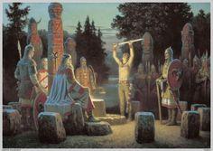 Картины Слявянских Богов, Воинов, Земли.