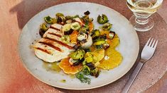 Grilled Swordfish with Charred Leeks Recipe | Bon Appetit