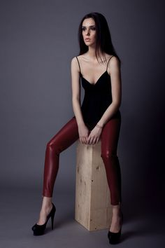 HUGE SALE 135$ Vivienne genuine leather pants by Alchimie on Young Republic - http://www.youngrepublic.com/women/bottoms/vivienne-genuine-leather-pants-copy3.html