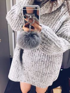 Rabbit Fur Ball Tassel Mirror TPU Case For Iphone 6 6S 7 Plus 5 5S 4S Samsung Galaxy Note 5 4 3 S5/4/3 S7 S6 Edge Plus A5/7/8