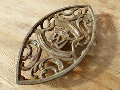 Vintage Rusty Iron Trivet Letter W by tippleandsnack on Etsy, $16.50