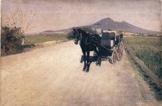 Gustave Caillebotte, Carretera en Nápoles, 1872. Óleo sobre lienzo, 40 x 60 cm, Colección particular