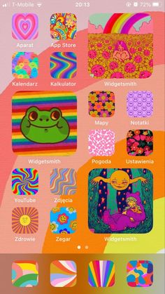 Iphone App Design, Iphone App Layout, Ios Design, App Icon Design, Iphone Wallpaper Vsco, Hippie Wallpaper, Aesthetic Iphone Wallpaper, App Drawings, Iphone Home Screen Layout
