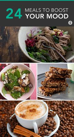 These recipes for happiness are sure to satisfy your stomach, bust stress, and turn a bad day around in a few bites. #mood #recipes #stress http://greatist.com/happiness/25-meals-boost-your-mood