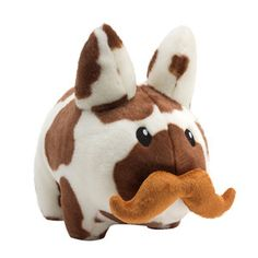 """Could be fun to add a mustache to a few of those stuffed monsters...    Kidrobot Cow Labbit Plush 14"""" now featured on Fab."""
