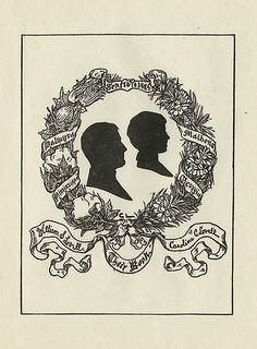 [Bookplate of William S. and Caroline C. Lovell] by Pratt Libraries, via Flickr