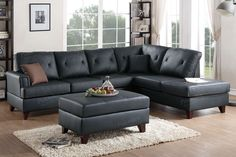 Poundex 2-Pcs Sectional Sofa F6880